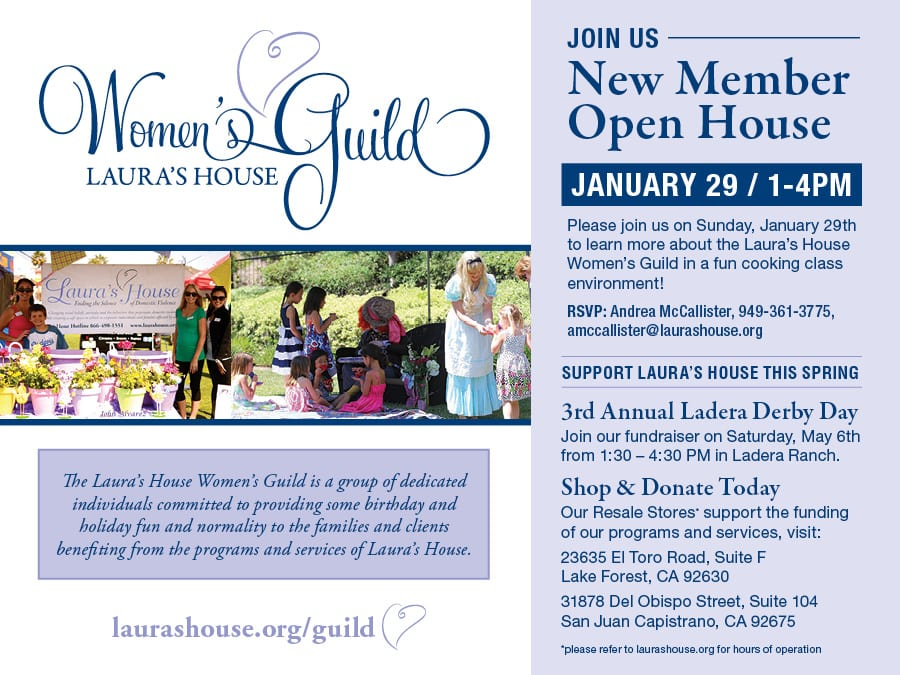 Join Us to learn more about Laura's House Women's Guild
