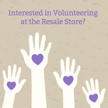Volunteer at the Resale Store