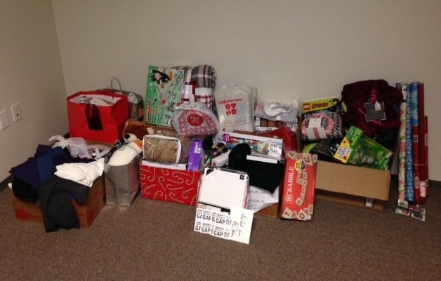 Gift Drive Donations at Laura's House