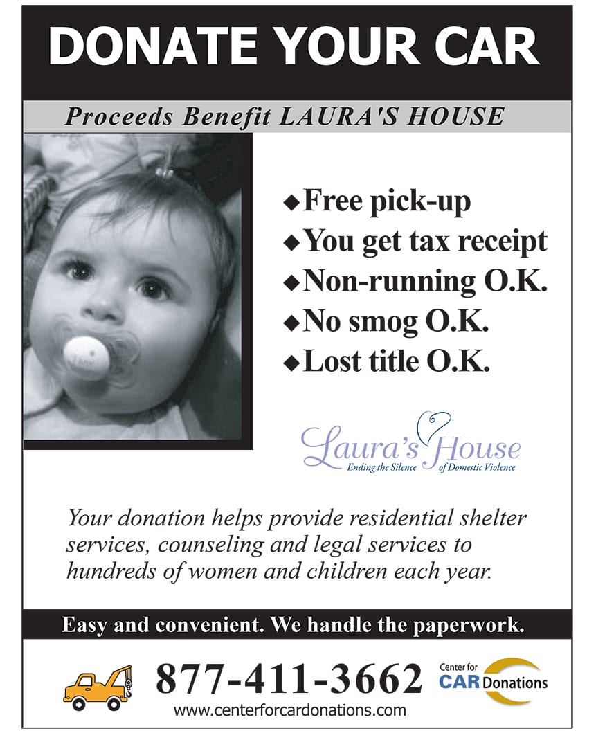 Donate Your Car - Proceeds benefit Laura's House