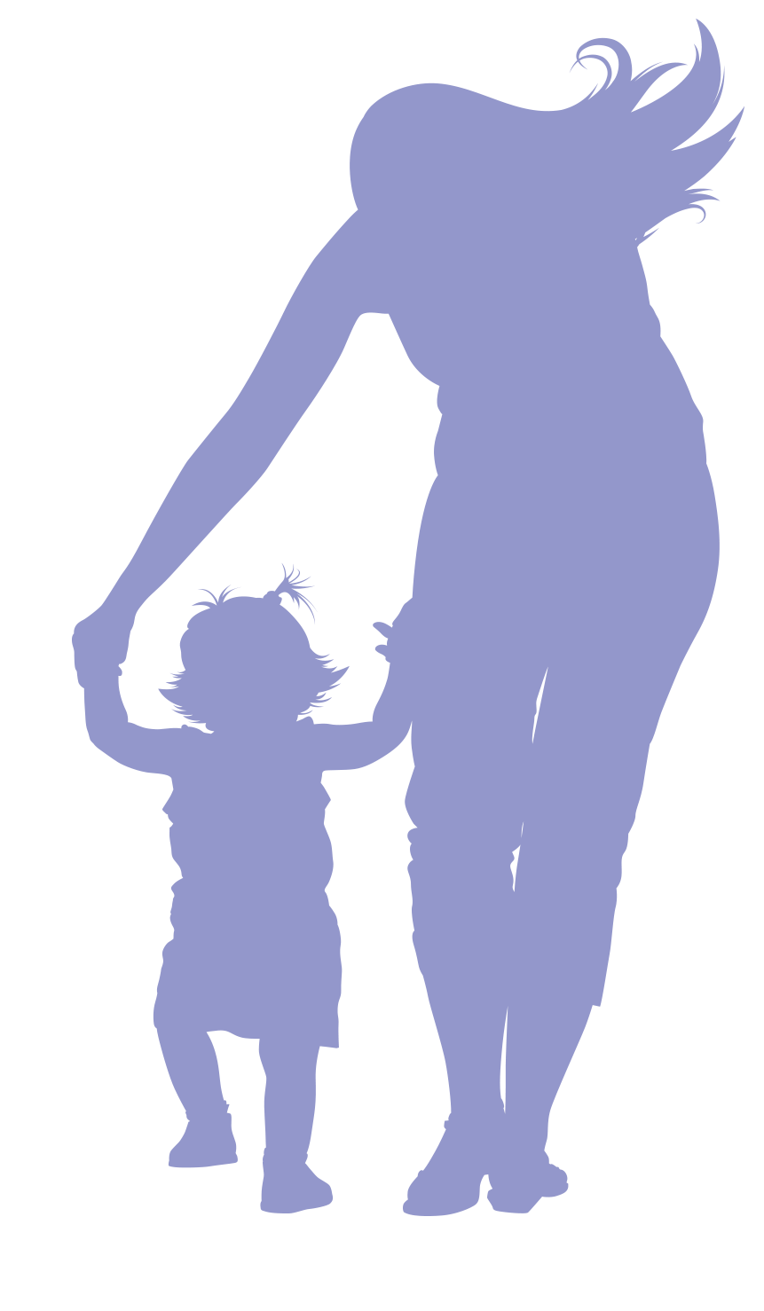 Silhouette of mother and baby playing