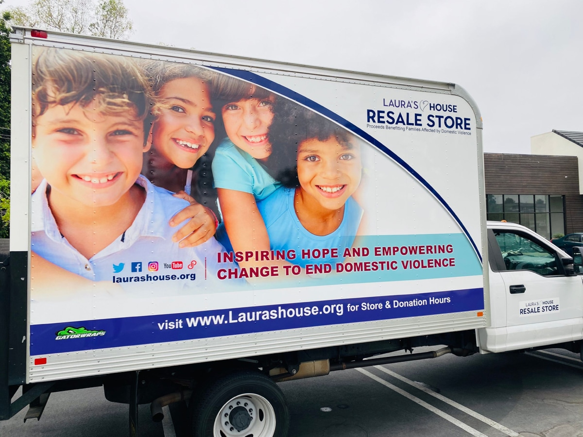 Lauras house donation truck