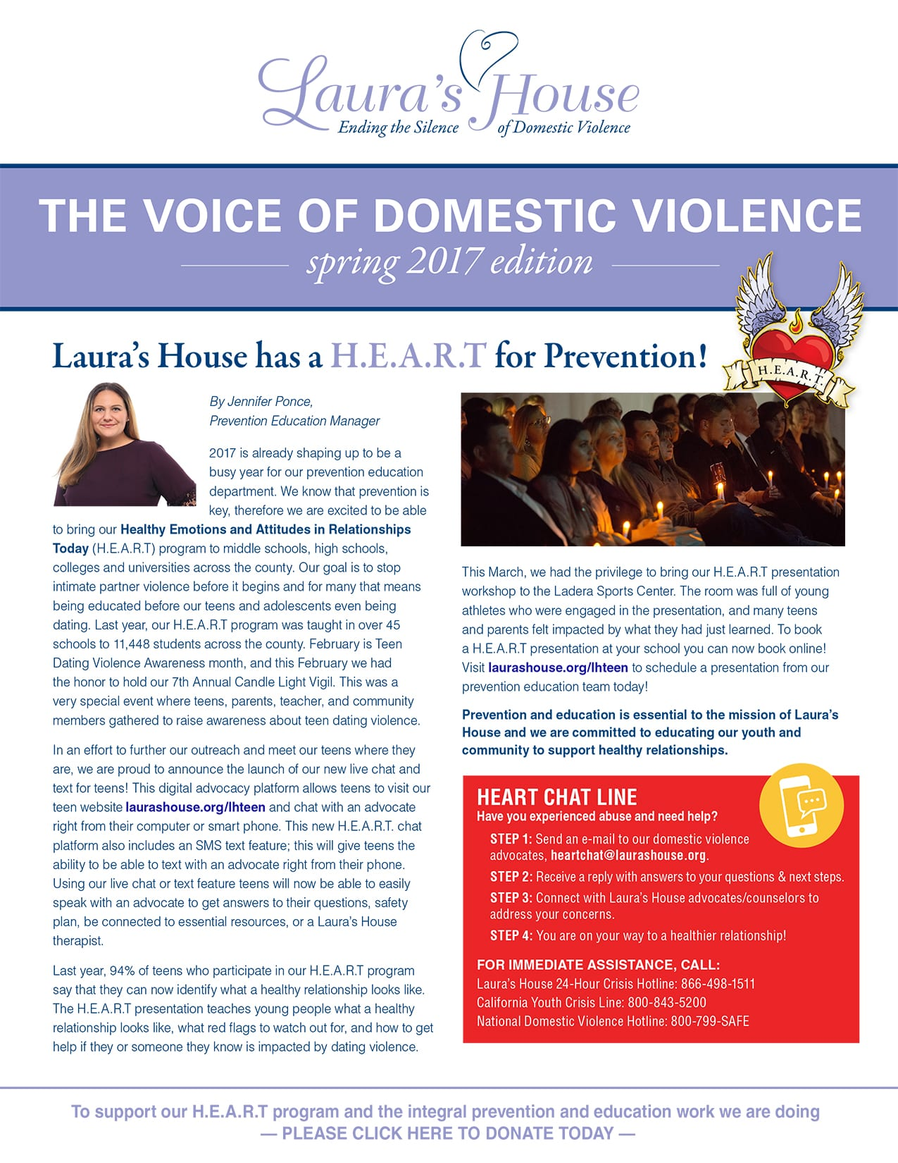 The Voice of Domestic Violence - Spring 2017 edition