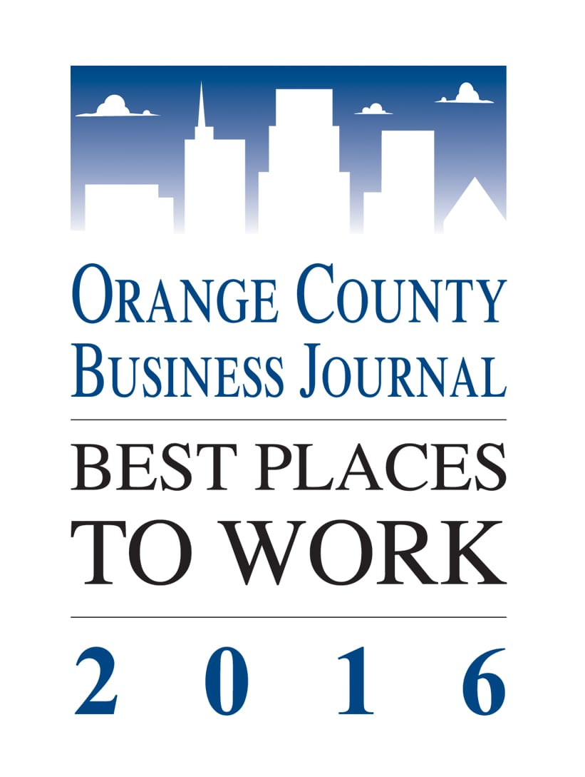 Orange County Business Journal Best Places to Work 2016