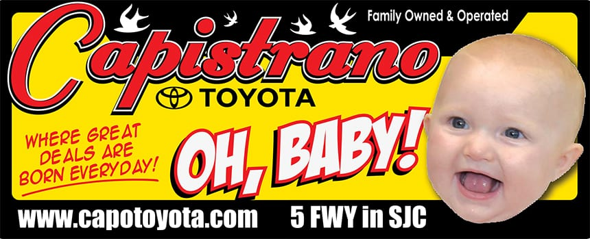 Oh, Baby! Capistrano Toyota - Where great deals are born everyday!