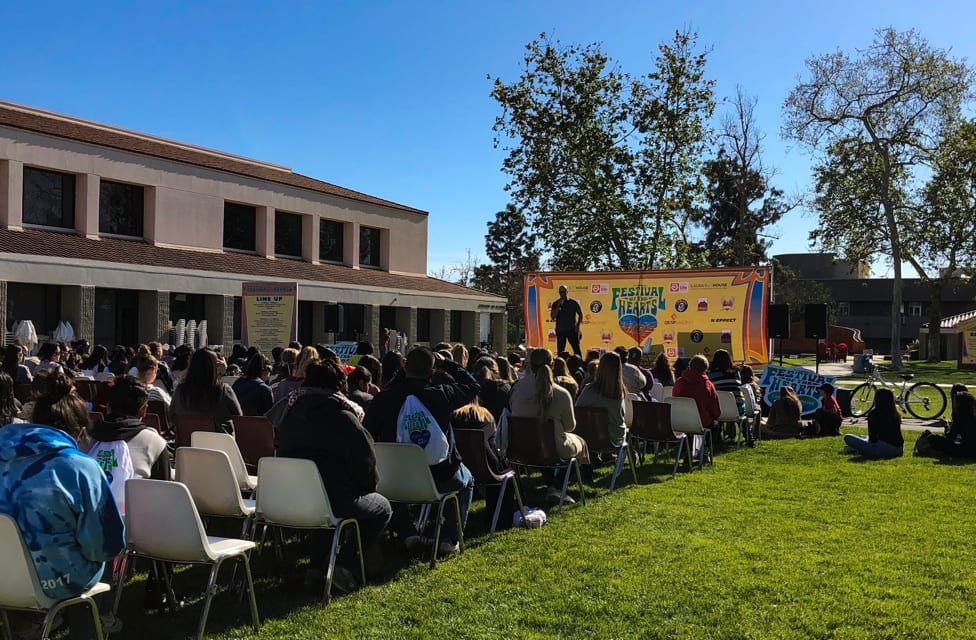 Endnote speaker, Ralph Rocha, who has overcome abusive relationships, gang violence, learning disabilities and time spent in juvenile hall, shared his inspiring story on how he was able to overcome life's challenges