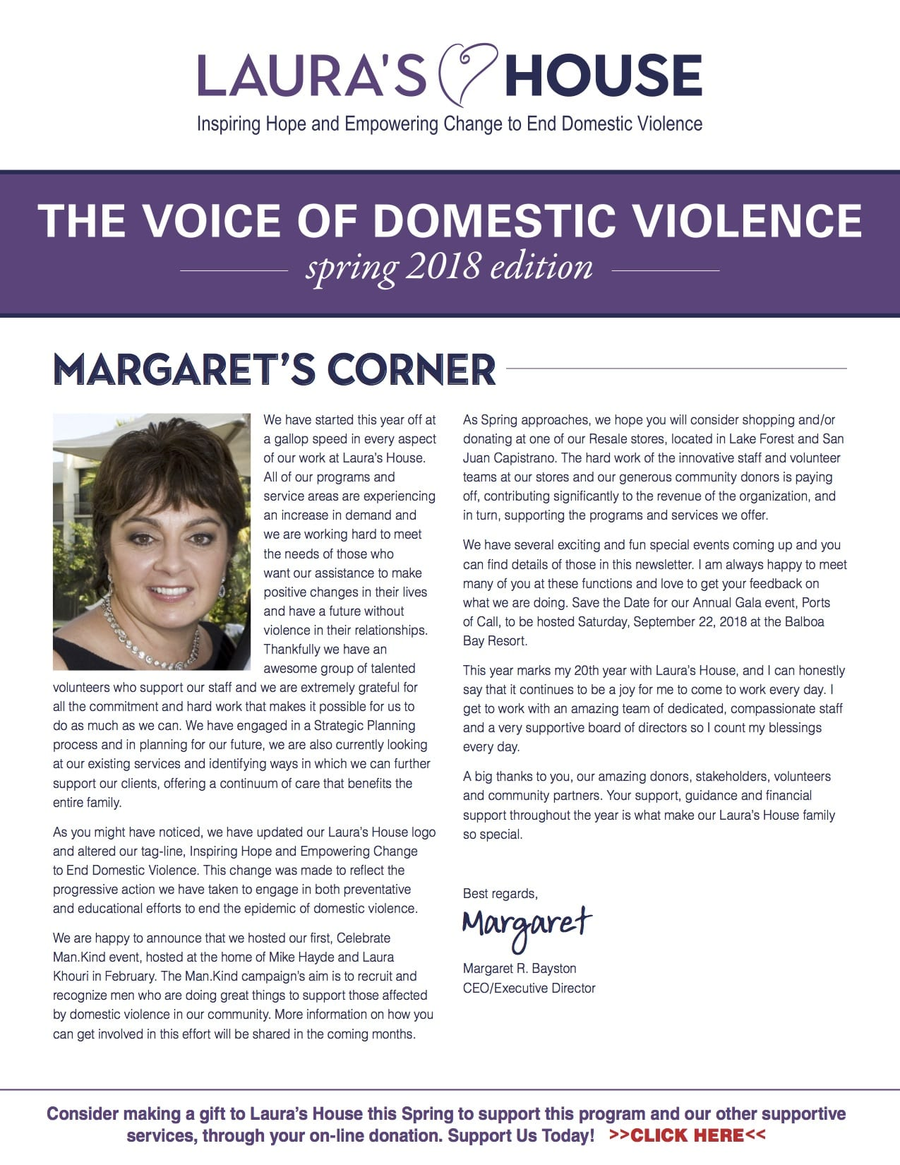 The Voice of Domestic Violence - Spring 2018 edition