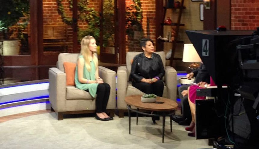 On Tuesday, October 22, our Marissa Presley and teen dating abuse survivor Kayla appeared on Fox 11 Los Angeles's Good Day LA show to talk with hosts Maria Quiban and Steve Edwards about domestic violence awareness.
